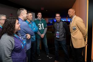James Lofton chats with guests