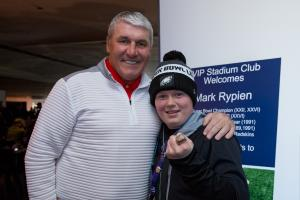 Mark Rypien with VIP guest