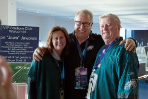 Ron Jaworski with guests