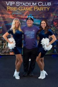 Timberwolves Dancers with guest - Super Bowl LII
