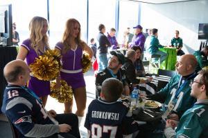 Vikings cheerleaders with guests