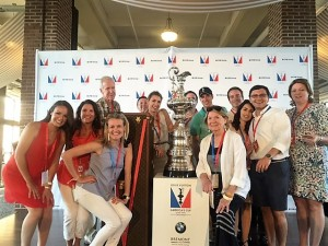 Clients with the America's Cup