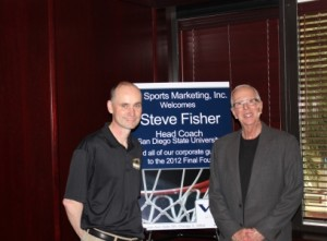 2012 Guest Speaker Coach Steve Fisher with VIP Guest