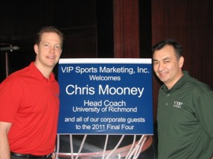 2011 Guest Speaker Coach Chris Mooney with VIP Representative