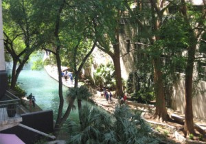 2008 Final Four - View of San Antonio River Walk from Hospitality Suite