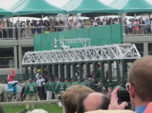 2011 Kentucky Derby - View of Starting Gate from 100 Level Seats