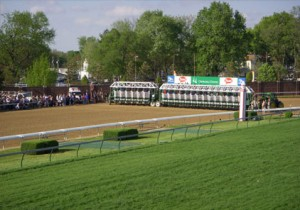 2008 Kentucky Derby - View of Starting Gate from Infield Suite