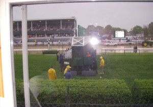 2008 Kentucky Oaks - View from inside the Infield Suite