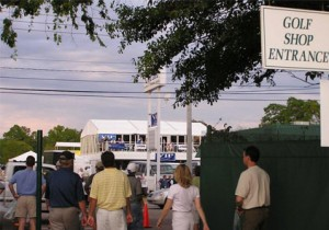 View of 1999-2007 VIP Hospitality Chalet at Main Entrance of Augusta National
