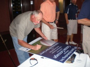 2009 Celebrity Guest Goose Gossage signing autographs for VIP Guests