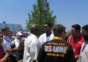 Scottie Pippen at Pre-Race Drivers' Meeting
