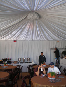 Interior View of 2008 VIP Private Hospitality Chalet at Pebble Beach