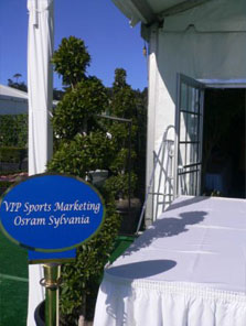 2007 Entrance to VIP Hospitality Chalet at Pebble Beach