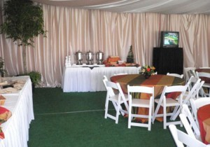 Interior View of 2007 VIP Hospitality Chalet at Pebble Beach