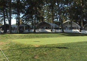 View of Hospitality Village from 2nd Tee Box
