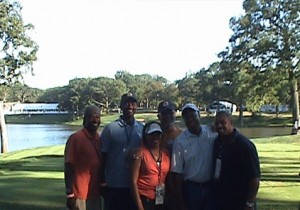 VIP Client Picture in front of the 2nd Tee Box