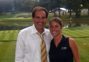 CBS Sports Announcer Jim Nantz with VIP Representative