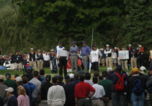 2004 View of Phil Mickelson and Tiger Woods from VIP Hospitality Estate