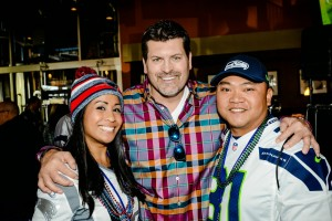 Celebrity Guest Mark Schlereth (middle) hanging out with guests
