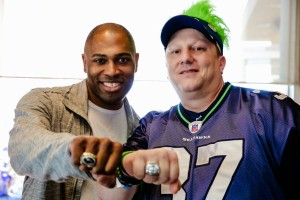 Seahawk's great Shaun Alexander letting fans wear his championship rings