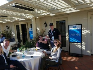 Outdoor Patio at VIP Hospitality at Pebble Beach