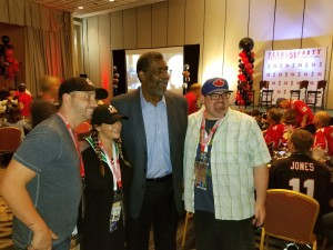 "VIP Guests with ""Mean"" Joe Greene"