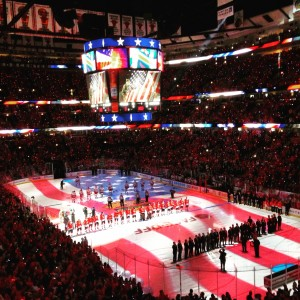 Opening night at the United Center for the Blackhawks